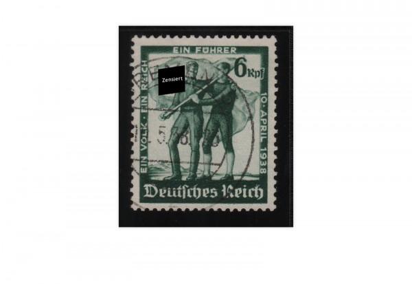 Briefmarke Deutsches Reich Volksabstimmung Michel-Nr. 662 gestempelt