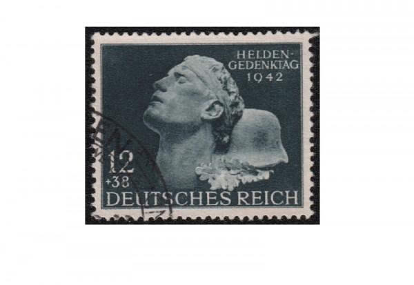Deutsches Reich Mi.Nr. 812 gest. Heldengedenktag 1942