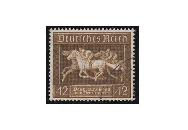 Briefmarke Deutsches Reich Braunes Band 1936 Blockeinzelmarke aus Block 4 Michel-Nr. 621 gestempelt