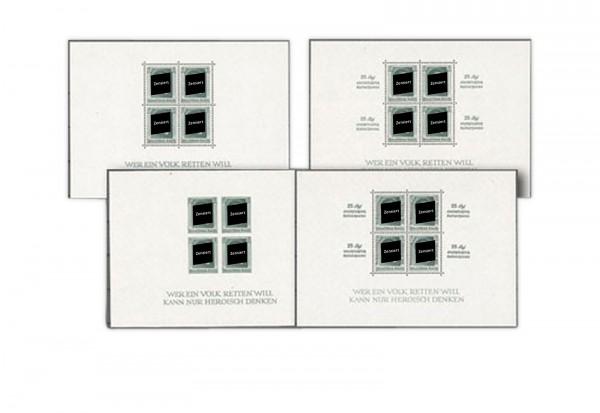 Deutsches Reich Briefmarken Hitler-Blocks mit Falz
