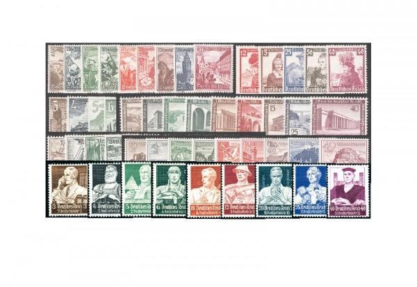 DR Nothilfe& WHW 1934-40 postfrisch im SET