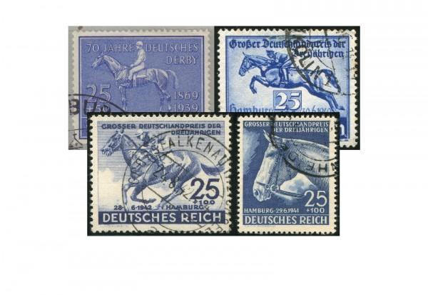 Deutsches Reich Blaues Band im Set gest.