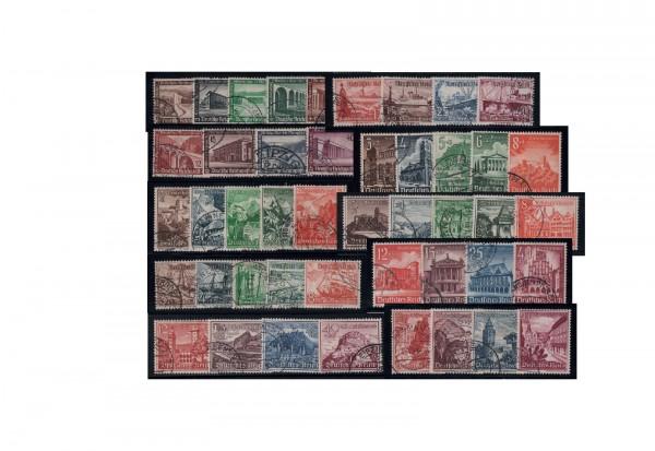 Briefmarkensätze Deutsches Reich Winterhilfswerk 1936-1940 Michel Nr. 634/42, 651/59, 675/83, 730/38