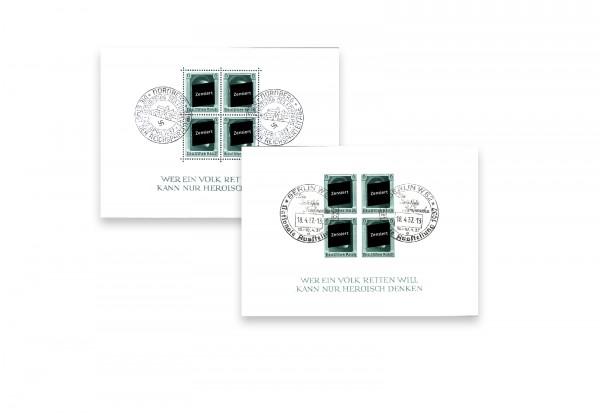 Briefmarken Blockausgaben-Set Drittes Reich 1937 Block 7 und 8 gestempelt