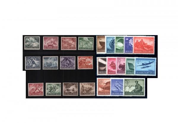 Briefmarken Deutsches Reich Wehrmachtssätze 1943-1944 Michel-Nr. 831-843 und 873-885 postfrisch