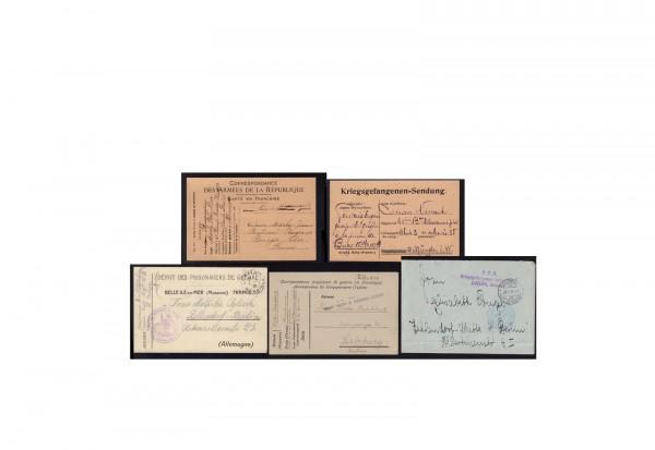 Deutsches Reich Kriegsgefangenenpost 1. Weltkrieg 1914 - 1918