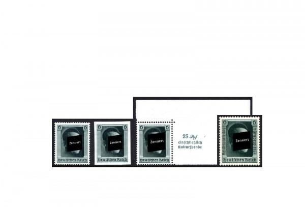 Deutsches Reich Michel Nr. 646-8 und 650 gestempelt