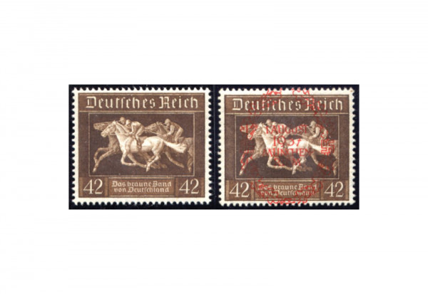 Briefmarken Deutsches Reich Braunes Band 1936 Michel-Nr. 621/649 gestempelt