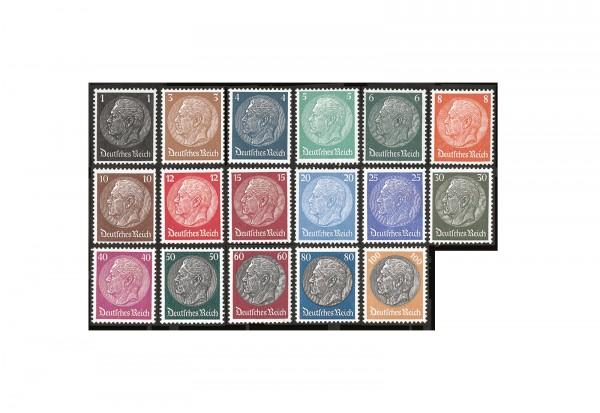 Briefmarken Deutsches Reich Paul von Hindenburg 1933 Michel-Nr. 482-495, 512-528 postfrisch
