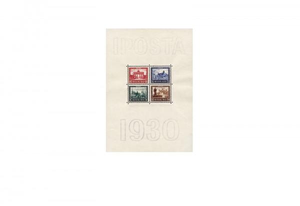 Deutsches Reich Block 1 mit Falz IPOSTA 1930