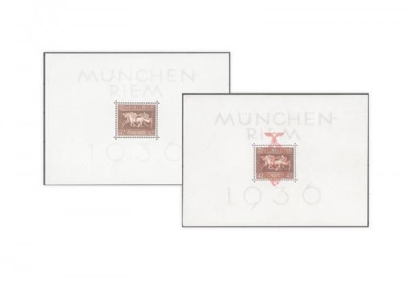 Briefmarken Deutsches Reich Braunes Band 1936 Block 4 + Block 10 postfrisch