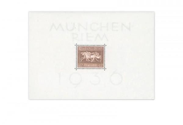 Briefmarken Deutsches Reich Braunes Band 1936 Block 4 postfrisch