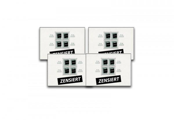 Briefmarken Deutsches Reich Hitler 1937 Block 7, 8, 9, 11 postfrisch