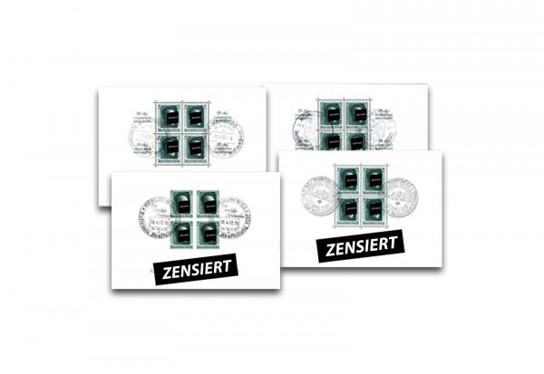 Deutsches Reich Briefmarken Hitler-Blocks gestempelt