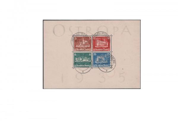 Deutsches Reich Ostropa 1935 Block 3 gestempelt