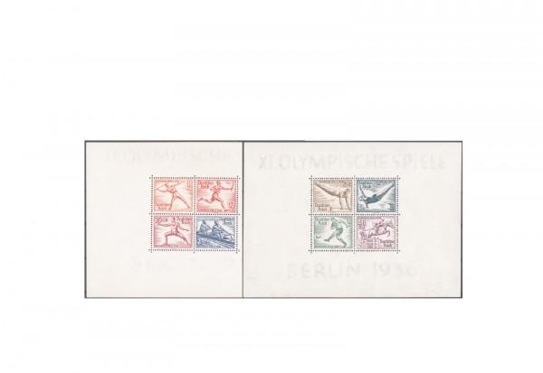 Briefmarken Deutsches Reich Olympia 1936 Block 5+6 z postfrisch