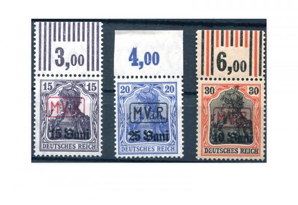 Briefmarken Deutsche Besetzung 1. WK Rumänien 1917 Michel-Nr. 1-3 postfrisch