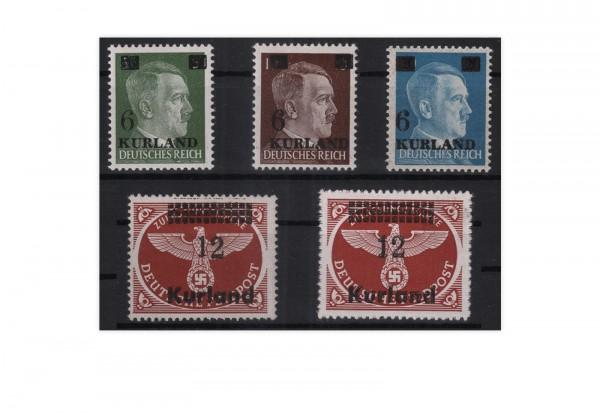 Kurland Michel-Nr. 1/3 und 4 A/B postfrisch