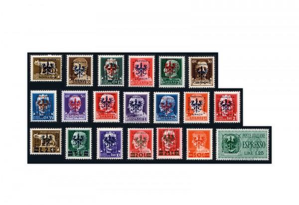 Briefmarken Deutsche Besetzung 2.WK Laibach Freimarken 1944 Michel-Nr. 1-20 postfrisch