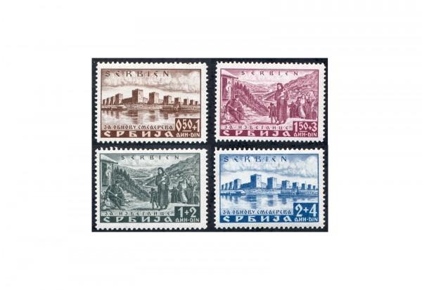Briefmarken Deutsche Besetzung Serbien 1941 Michel-Nr. 46-49 postfrisch