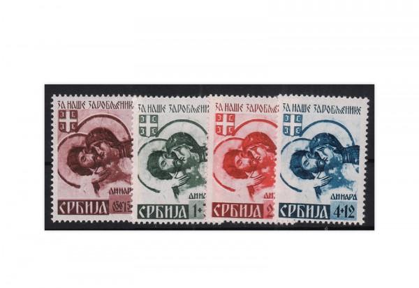 Deutsche Besetzung: Serbien Mi.Nr. 54-57 II postfrisch