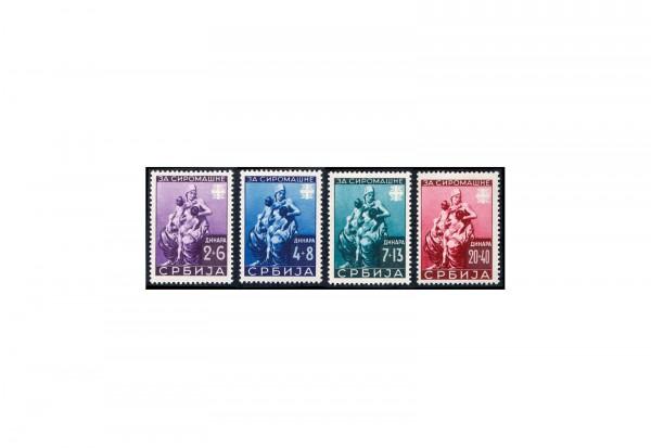 Deutsche Besetzung Serbien Michel Nr. 82 bis 85 postfrisch
