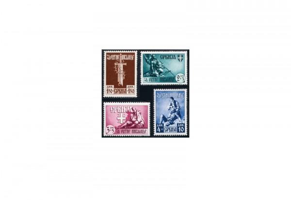 Deutsche Besetzung Serbien 1943 Michel Nr. 86 bis 89 postfrisch