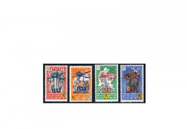 Briefmarken Deutsches Reich Belgien Flämische Legion 1943 Michel-Nr. V-VIII postfrisch