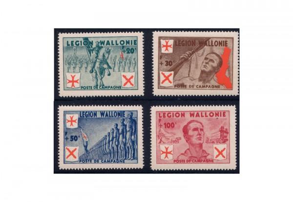 Deutsche Besetzung: Die wallonische Legion Michel Nr. I-IV postfrisch
