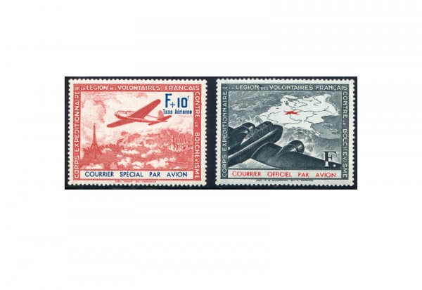 Deutsche Besetzung: Frankreich/LVF Michel Nr. II-III postfrisch