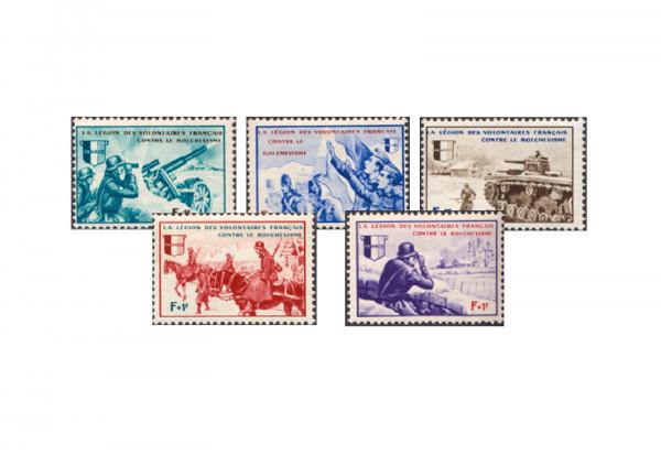 Frankreich VI-X postfrisch Deutsche Besetzung