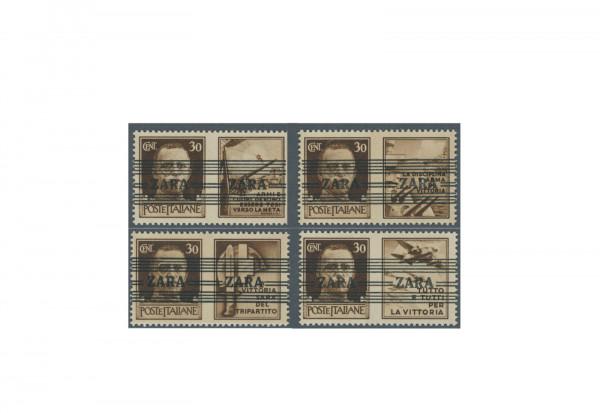 Briefmarken Deutsches Reich Zara 1943 Michel-Nr. 36.1-36.4 postfrisch Fotobefund