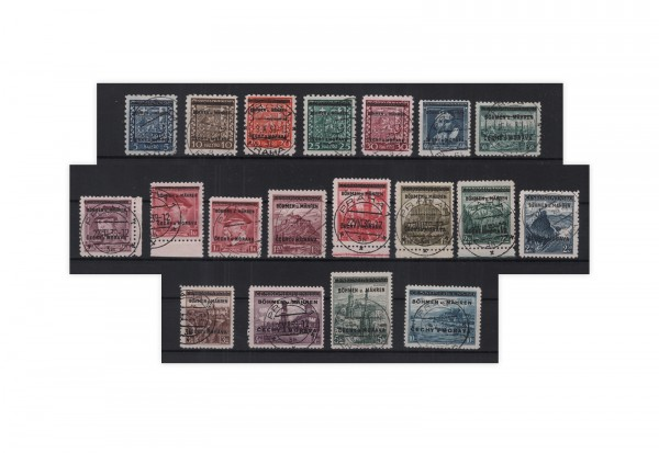 Briefmarken Böhmen und Mähren Michel-Nr. 1/19 gestempelt