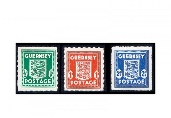 Guernsey Mi.Nr. 1/3 gest.