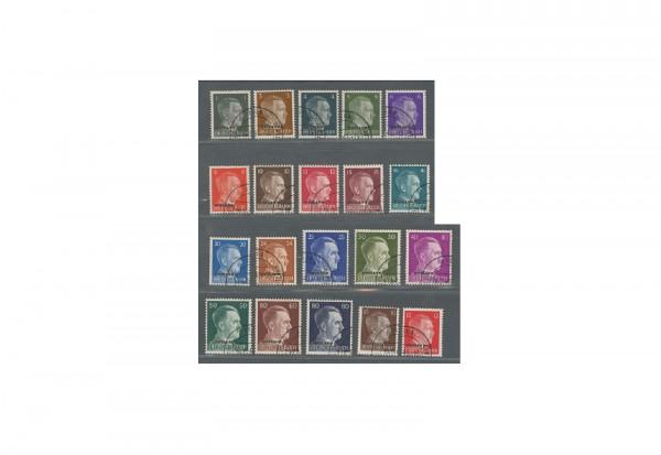 Briefmarken Deutsche Besetzung Ostland 1941 bis 1943 Michel-Nr. 1 bis 20 gestempelt
