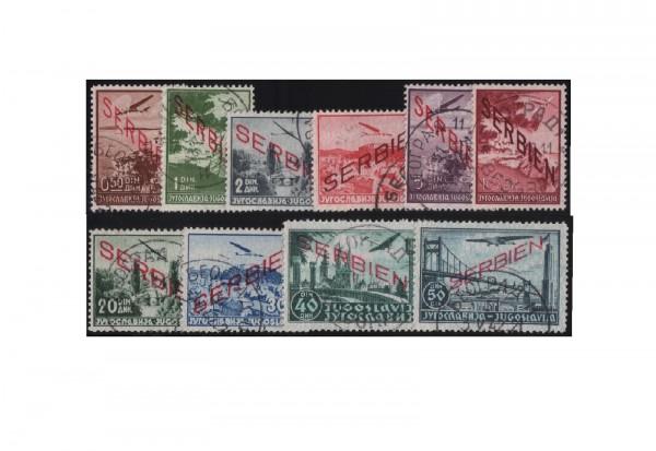 Serbien Flugpostmarken Mi.Nr. 16/25 gestempelt Stempel ohne Obligo