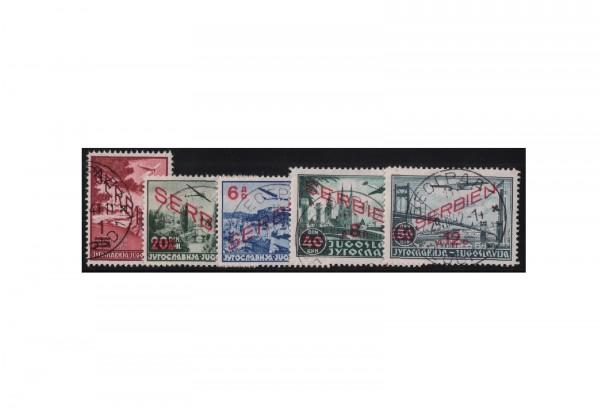 Serbien Flugpostmarken Mi.Nr. 26/30 gestempelt Stempel ohne Obligo