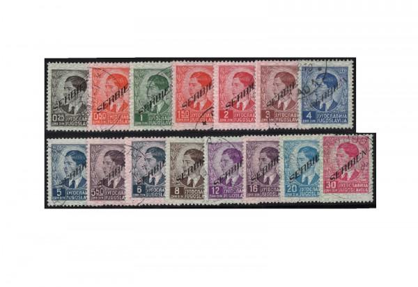Serbien Freimarken Mi.Nr. 31-45 gestempelt Stempel ohne Obligo