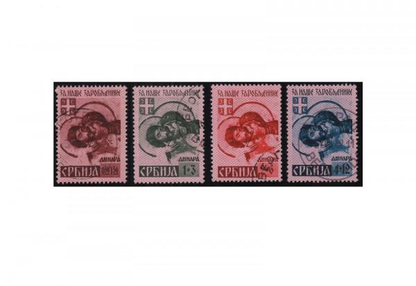 Deutsche Besetzung: Serbien Mi.Nr. 54/57 I gestempelt