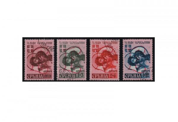 Deutsche Besetzung: Serbien Mi.Nr. 54/57 IV gestempelt