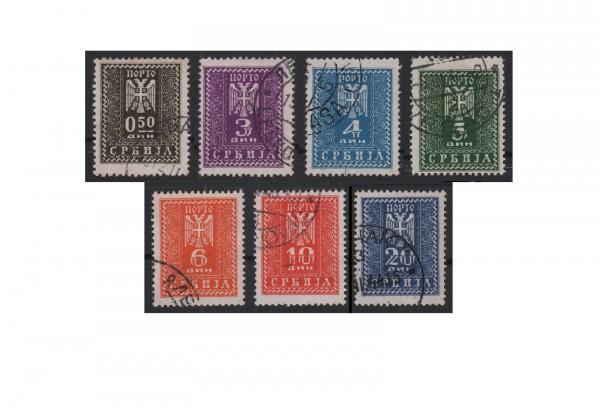 Deutsche Besetzung: Serbien Mi.Nr. 16/22 gestempelt