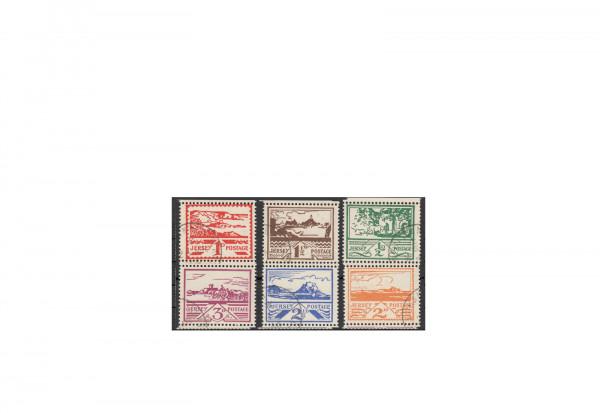 Briefmarken Deutsche Besetzung 2. Weltkrieg Freimarken 1943 Jersey Michel-Nr. 3-8 gestempelt