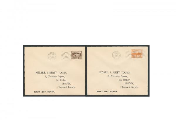 Briefmarken Deutsches Reich Jersey II. Weltkrieg 1943 Michel-Nr. 5/6 gestempelt