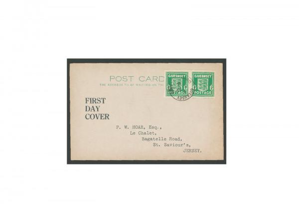 Briefmarken Deutsches Reich Guernsey Michel-Nr. 1d FDC gestempelt