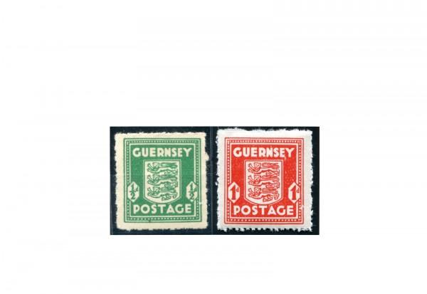 Deutsche Besetzung II. WK 1941/1942 Guernsey Michel-Nr. 1+2 postfrisch geprüft