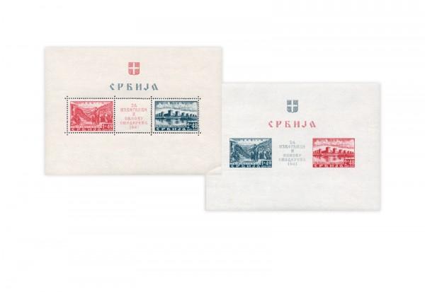 Serbien Blocks 1 und 2 Falz