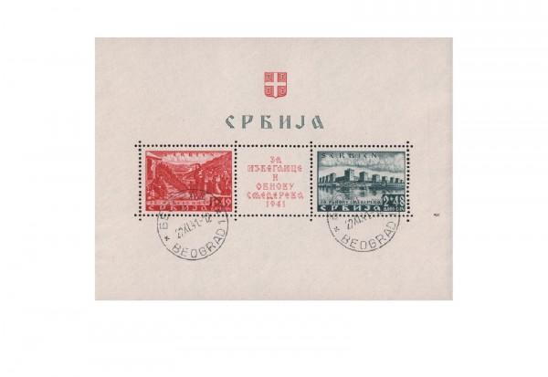 Serbien Block 1 Semendria gestempelt Stempel ohne Obligo