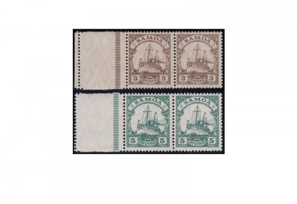 Deutsche Kolonien Samoa 1919 Michel-Nr. 20 L und 21 L postfrisch