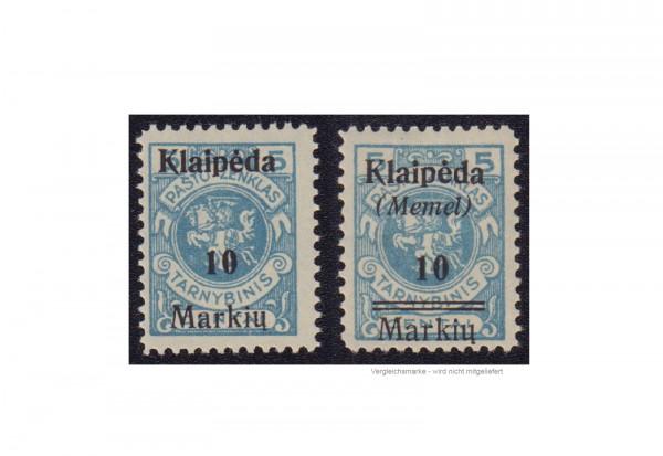 Briefmarke Memel Freimarke Klaipeda 1923 Michel-Nr. 129 I postfrisch