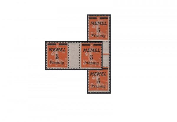 Deutsches Reich Memelgebiet 1922 Michel Nr. 52 ZW+ZS postfrisch